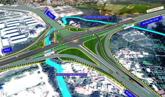 HCMC PAID VND 1.150 BILLION MORE TO COMPLETE THE MY THUY TRAFFIC ROUNDABOUT AT THE EMTRANCE OF CAT LAI PORT